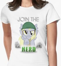Derpy Hooves- Join the Herd Womens Fitted T-Shirt