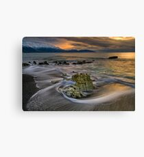 Kaikoura Limestone Drift Canvas Print
