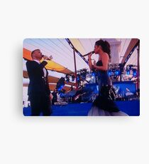 Gary Barlow and Cheryl Cole Canvas Print
