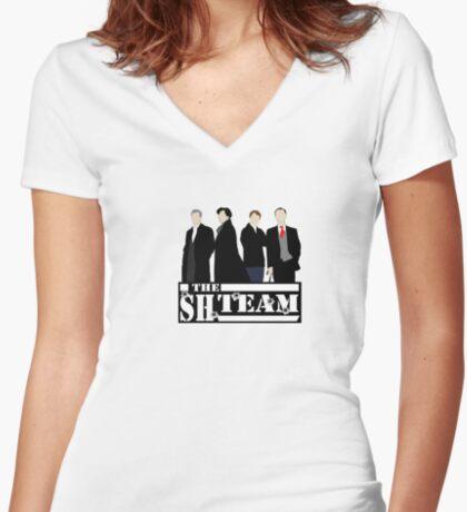 Sherlock Holmes - A Team Parody Women's Fitted V-Neck T-Shirt
