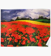 Poppies before the Storm Poster