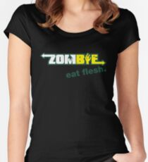 Subway Zombie - Eat Flesh Women's Fitted Scoop T-Shirt