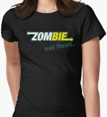 Subway Zombie - Eat Flesh Women's Fitted T-Shirt