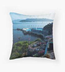 Tinside Pool and The Terrance Cafe Throw Pillow