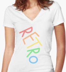Retro! Women's Fitted V-Neck T-Shirt