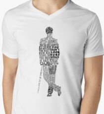 Mycroft Holmes Typography Art Men's V-Neck T-Shirt