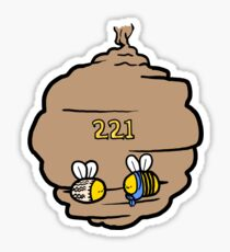 221 Bee Baker Street Sticker