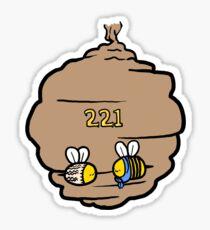 221 Bee Baker Street Sticker