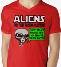 Funny Saying- Aliens Ask the Probing Questions T-Shirt