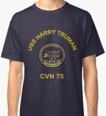 USS Harry S. Truman (CVN-75) Crest for Dark Colors Classic T-Shirt