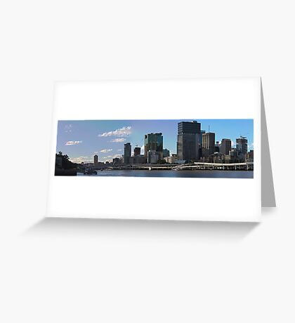 Brisbane from Southbank (I-i) Greeting Card