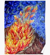 The fire flower Poster