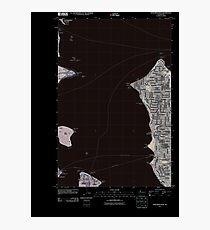 USGS Topo Map Washington State WA Duwamish Head 20110422 TM Inverted Photographic Print