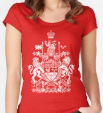 CANADA-COAT OF ARMS Women's Fitted Scoop T-Shirt