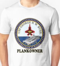 USS George H.W. Bush (CVN-77) Plankowner Crest T-Shirt
