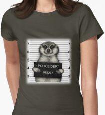 Meerkat Mugshot Womens Fitted T-Shirt