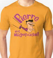 Pierre est Magnifique - cartoon drawing of trapeze artist with handsome mustache Unisex T-Shirt