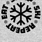 Eat Sleep Ski Repeat by jaw1027