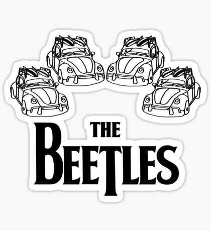 the beetles t-shirt Sticker