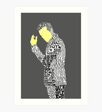 Jim Moriarty Typography Art Art Print