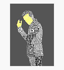 Jim Moriarty Typography Art Photographic Print