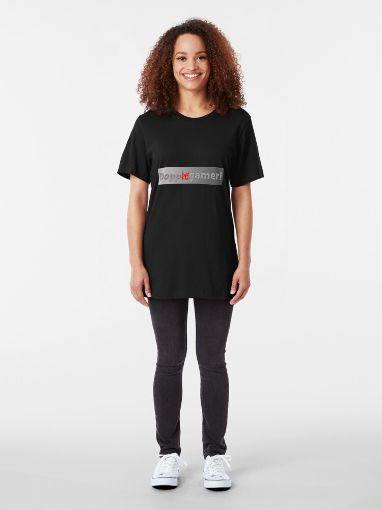 Alternate view of Dopplegamer! Slim Fit T-Shirt
