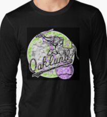 A'S BLACK Long Sleeve T-Shirt
