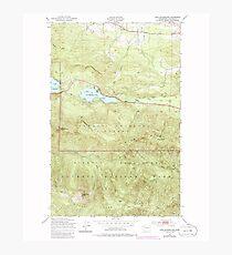 USGS Topo Map Washington State WA Lake Sutherland 241913 1950 24000 Photographic Print
