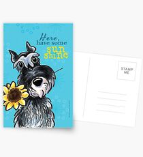 Sunny Schnauzer Cheer Up Cards Postcards