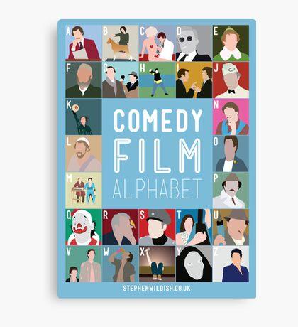 Comedy Film Alphabet Canvas Print