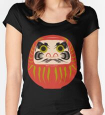Japanese Daruma T-Shirt Women's Fitted Scoop T-Shirt
