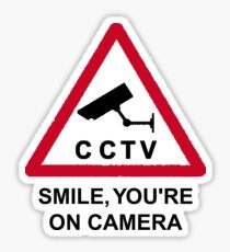 CCTV: Smile, you're on camera! Sticker