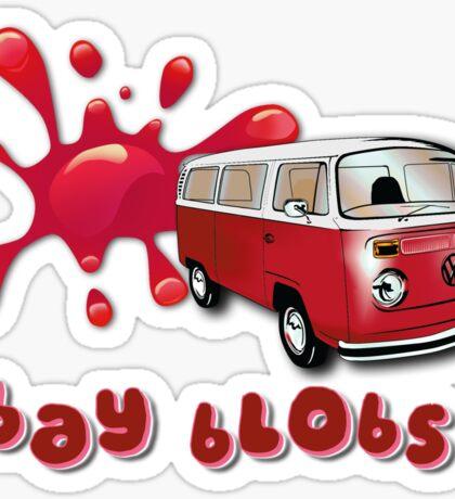 Volkswagen Kombi Tee shirt - Bay Blobs Red Sticker