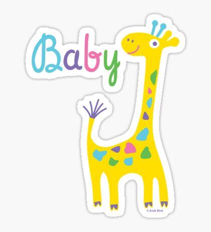 giraffe baby kids t shirt & onesie Sticker