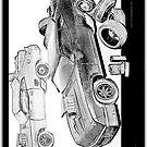 MovieRepliCars Sticker 2 - Mad Max V8 Interceptor by Ewan Arnolda