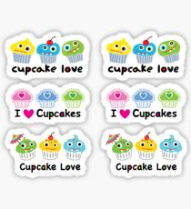 Stickers 3 cupcakes - cupcake love Sticker