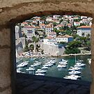 Dubrovnik Through the Wall by Lynnette Peizer
