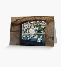 Dubrovnik Through the Wall Greeting Card
