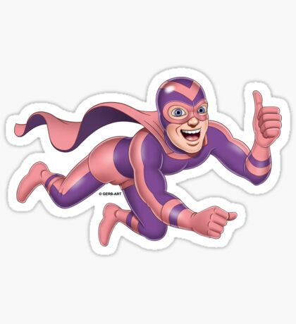 Superheroes - Boldie the Bold Sticker