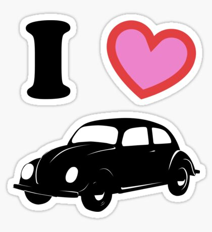 I <3 Beetle Sticker
