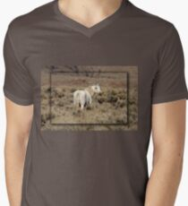 Lone White Stallion Men's V-Neck T-Shirt