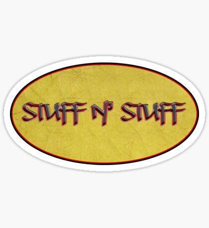 stuff n' stuff - sticker Sticker