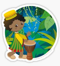 African boy Sticker