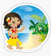Hawaii girl Sticker