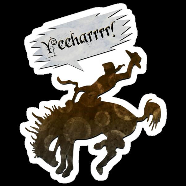 yeeharrrr! - sticker by vampvamp