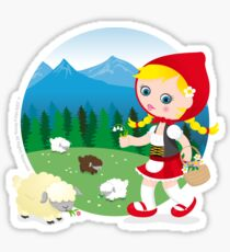 Shepherd girl Sticker