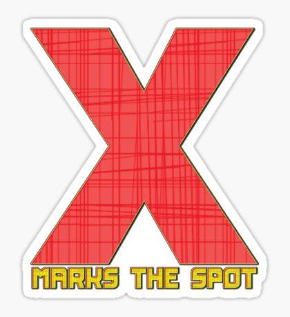 X - sticker Sticker