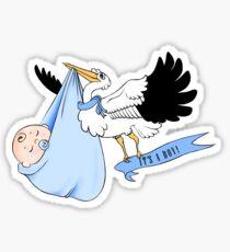 Stork - It's a boy! Sticker