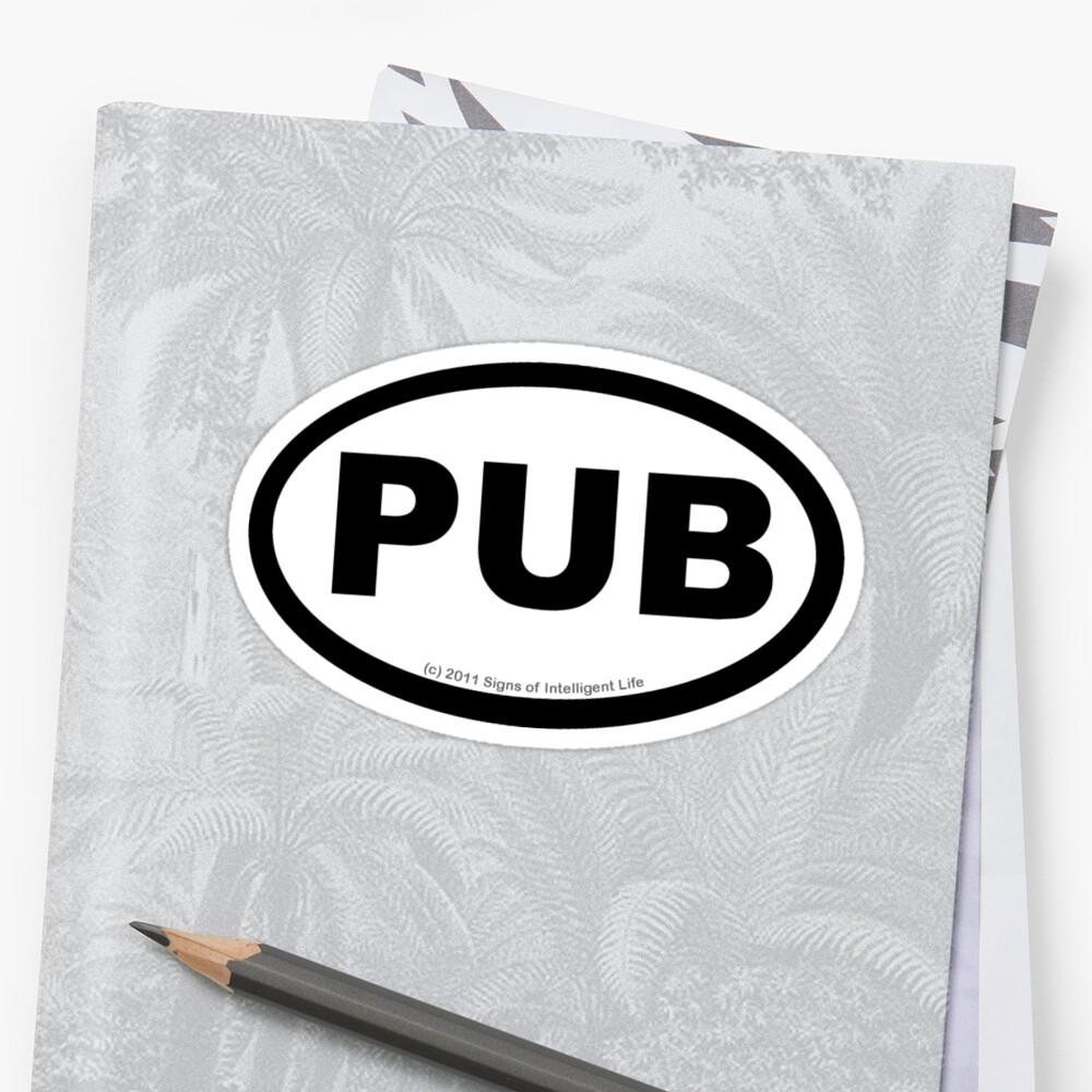 PUB location sticker by SOIL