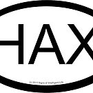HAX location sticker by SOIL